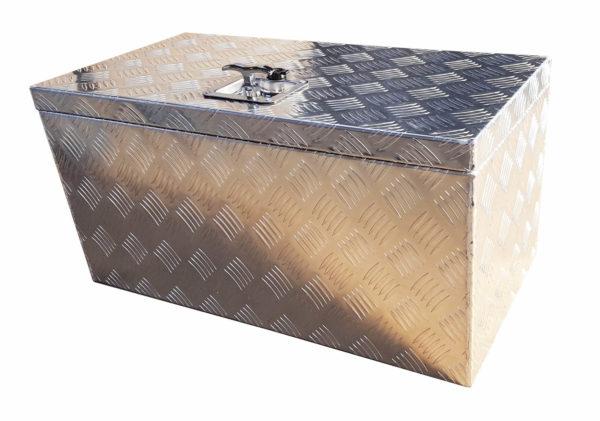 abschließbare Deichselbox aus Aluminium 70 x 35 x 35 cm