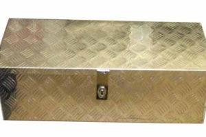 abschließbare Deichselbox Aluminium 77,5 x 77,5 x 25,0 cm