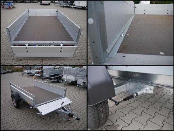 leichter und stabiler Stema Tieflader mit abbaubaren Bordwänden