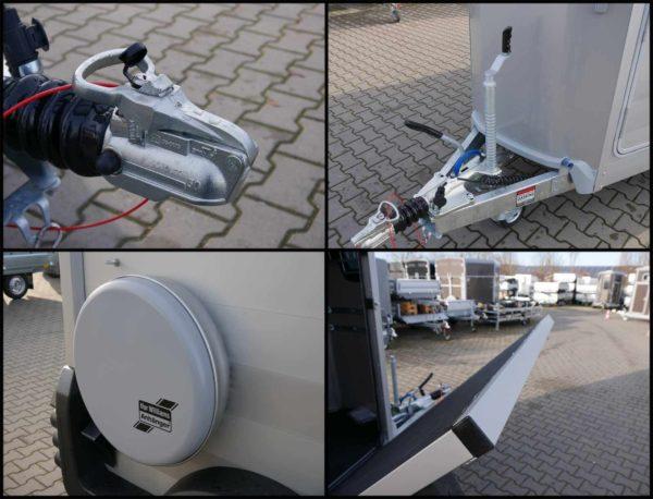 Ifor Williams Pferdeanhänger HBX 511 mit Frontausstieg, abschließbare Kupplung, Automatikstützrad, Ersatzrad, massive Aluminium Heckklappe
