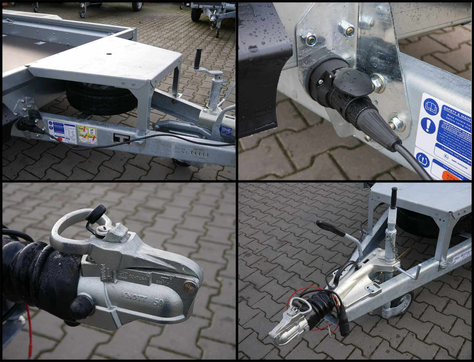 Ifor Williams GX 125 HD Löffelablage, abnehmbares 13-Pol Kabel, abschließbare Kupplung
