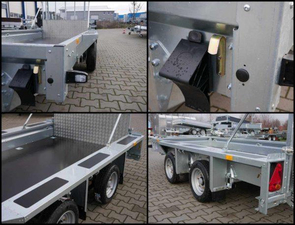 Ifor Williams GX 125 HD Positionsbeleuchtung, Zurrhaken am Rahmen, Antirutschbeschichtung