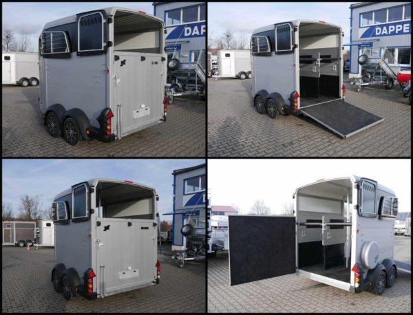 Ifor Williams Pferdeanhänger HBX 511 mit Frontausstieg Rampen-/Türkombination, massiver Aufbau