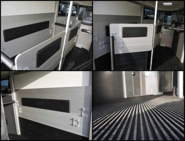 Ifor Williams Pferdeanhänger HBX 511 mit Frontausstieg, schwenkbare Mitteltrennwand, Seitenpolster, herrausnehmbarer Gummiboden